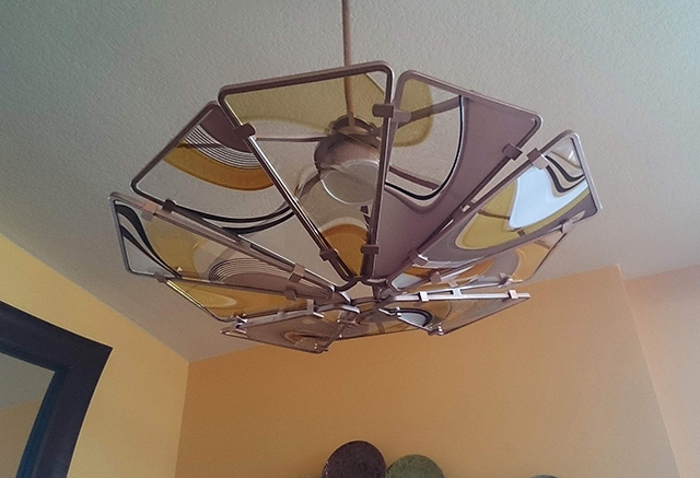triangle chandelier