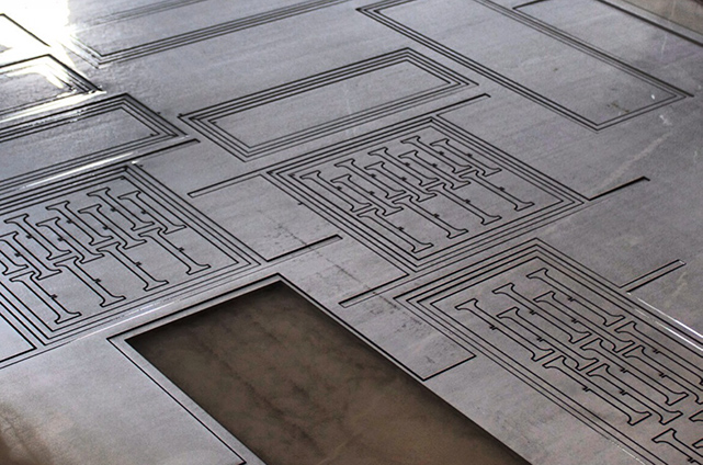 CNC cut pattern