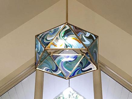 icosahedron chandelier